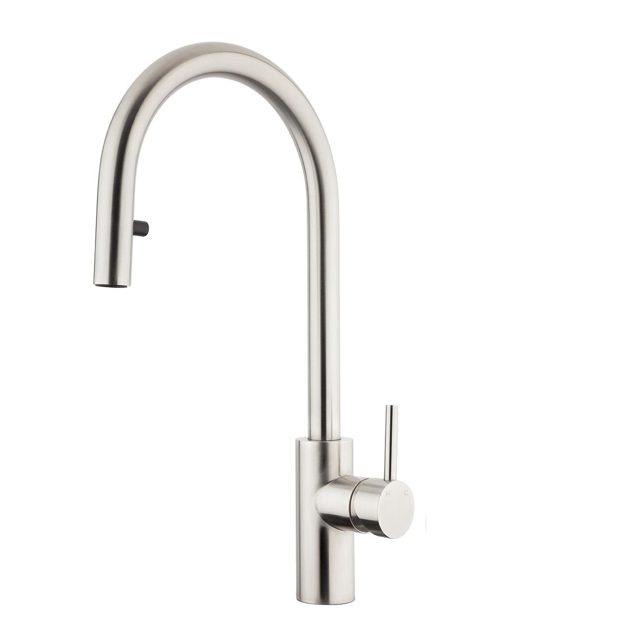 FORENO E-STEEL Minimal Gooseneck Pulldown Sink Mixer (ESS011)