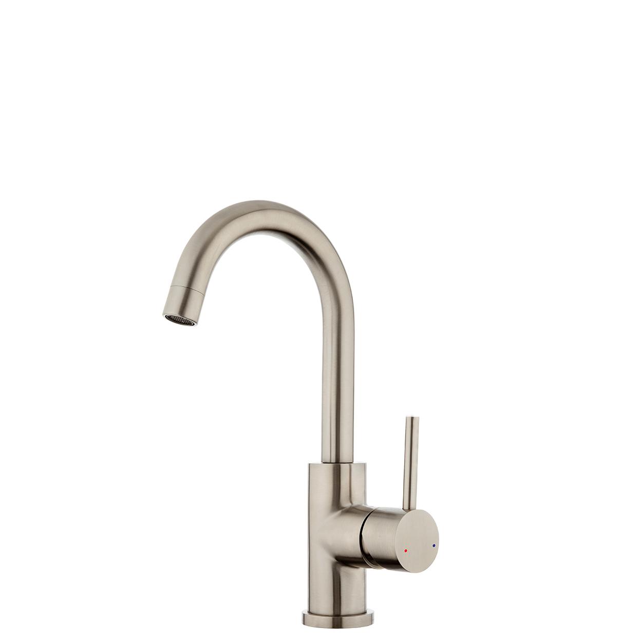 FORENO E-STEEL Minimal Gooseneck Basin Mixer (ESS020)