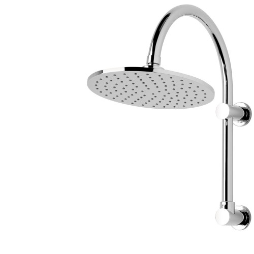 FORENO. High Rise Brass Shower Rose | Chrome (FSHR1)