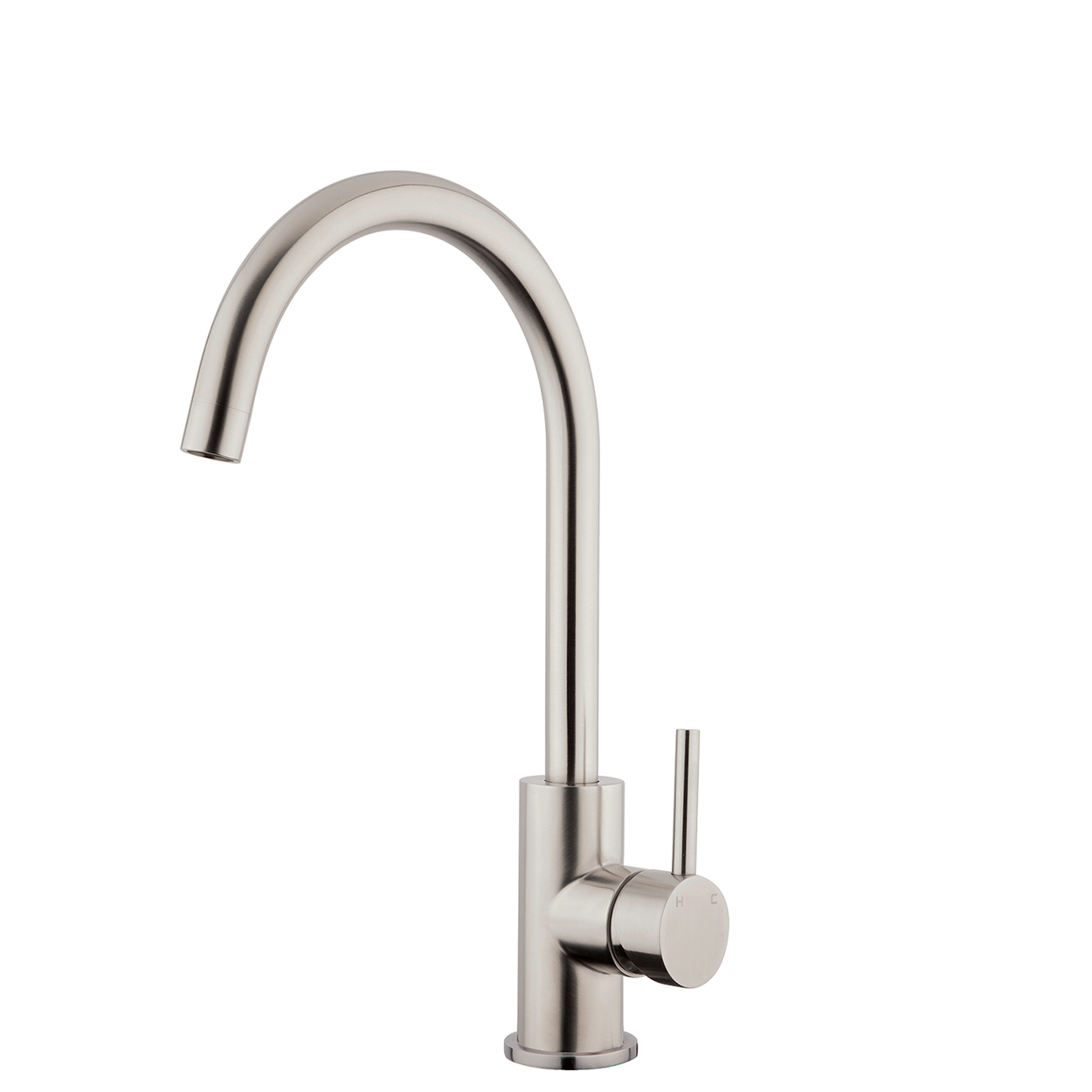 FORENO PURITY Minimal Gooseneck Sink Mixer | Stainless Steel (FSSS1)