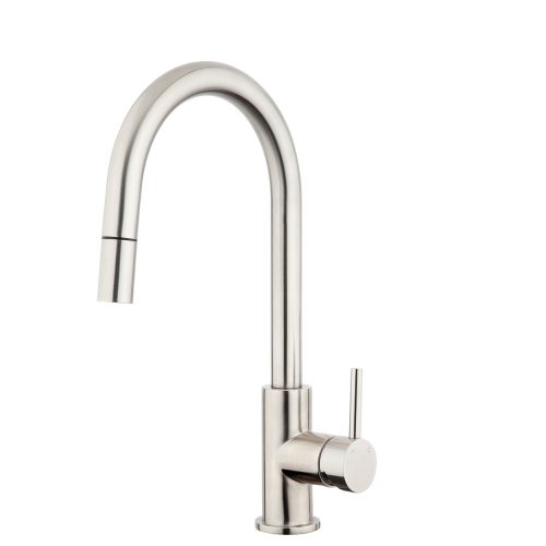 FORENO PURITY Minimal Gooseneck Pulldown Sink Mixer | Stainless Steel (FSSS2)