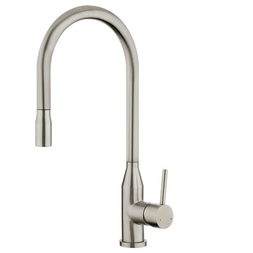 FORENO PURITY Minimal Pulldown Sink Mixer   Stainless Steel (PUR011)