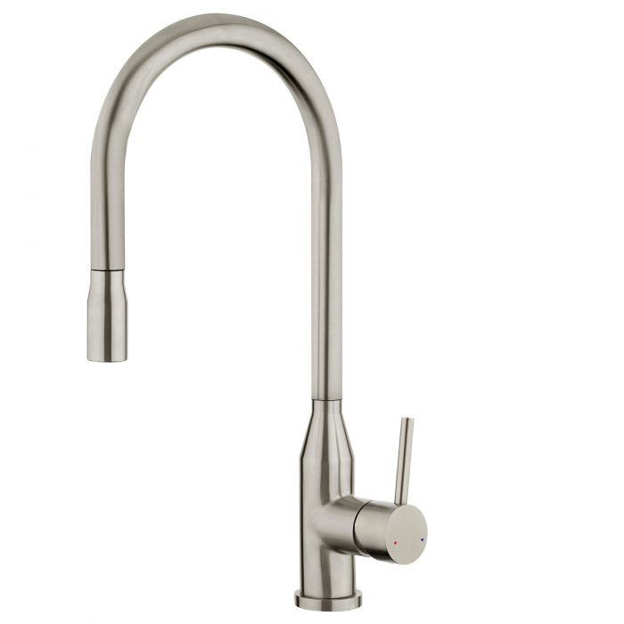 FORENO PURITY Minimal Pulldown Sink Mixer | Stainless Steel (PUR011)
