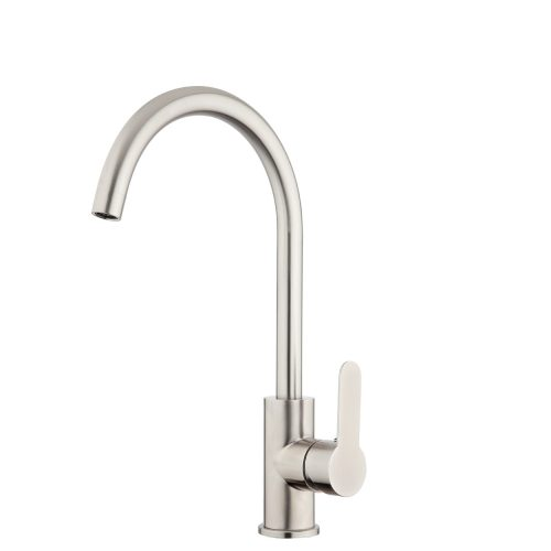 FORENO PURITY Gooseneck Sink Mixer | Stainless Steel (PUR014)